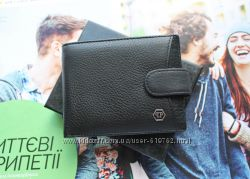 Кожаный мужской кошелек Philipp Plein