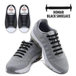 Силиконовые шнурки черные