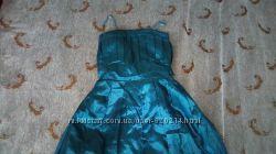 Новое атласное выпускное вечернее платье Размер 42-44-46