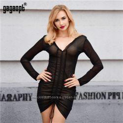 Платье чёрное стильное р. М