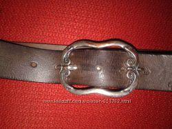 Кожаный ремень Tom Tailor, оригинал, объём от 87 до 99, 5 см