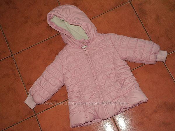 Куртка Baby Club 74-80 р на девочку демисезонная на флисе