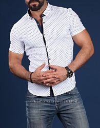Стильные мужские рубашки Турция. Короткий рукав, длинный рукав.