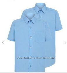 Шведка Рубашка на мальчика голубая на рост 128-135 см