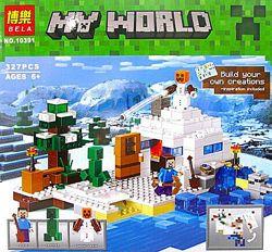 Конструктор майнкрафт Bela My World арт. 10391 Снежное убежище