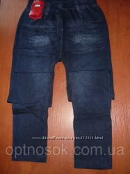 Осень. Бесшовные лосины под джинс. Баталы