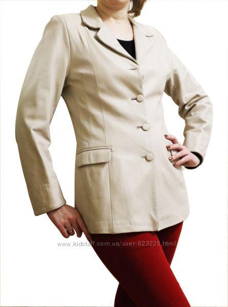 Стильный кожаный пиджак Dilander, р. М