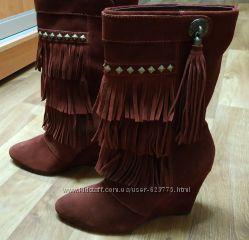 Замшевые сапоги ботинки Andre Франция