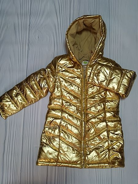 Куртка золотая Джимбори Gymboree на флисе размер S 5-6 лет
