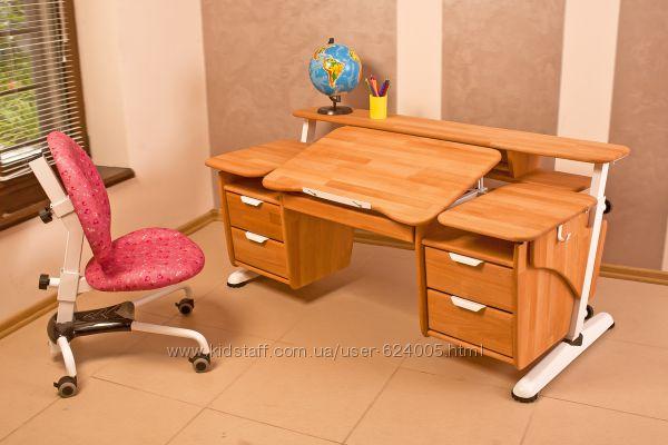 Детский стол Эргономик с двумя тумбами.  Скидка.