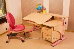 Детский стол Эргономик с тумбой.  Скидка. Бесплатная доставка.