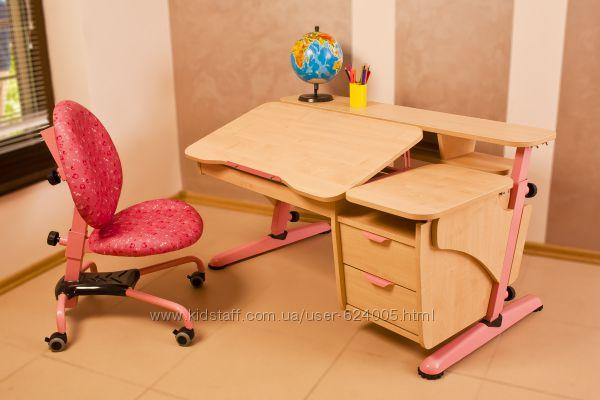 Детский стол Эргономик с тумбой.  Скидка.