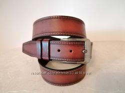 Ремень кожаный стильный шир 40 мм