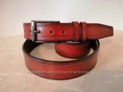 Кожаный ремень для брюк шир 35 мм