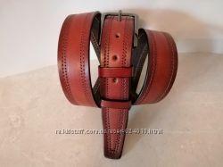Кожаный стильный ремень классический шир 35 мм