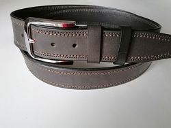 Кожаный ремень джинсовый шир 40 мм