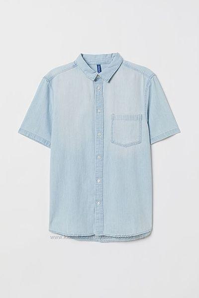 Джинсовая рубашка H&M, размер L