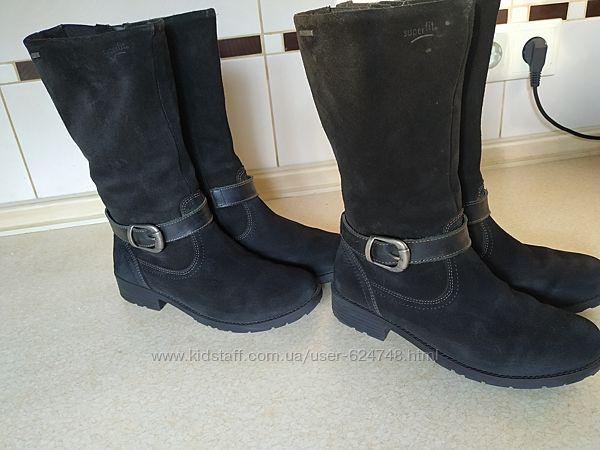 Демисезонные сапоги ботинки Superfit для девочки замша размер 34
