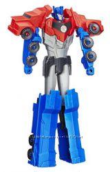Большой трансформер Optimus Prime 27 см, Robots In Disguise Titan Changers