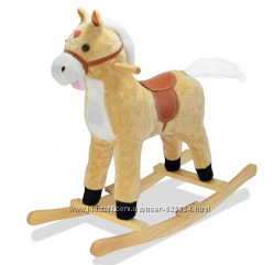 Детская лошадка качалка Поющий конь - игрушка качалка для ребенка 1007444