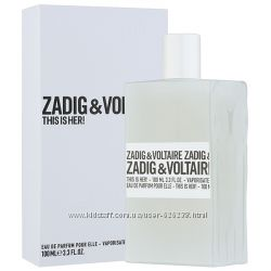 Zadig & Voltaire This is Her edp 100 ml тестер оригинал