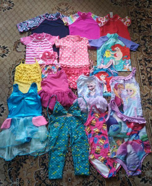 купальники и защитные футболки от солнца для мальчиков и девочек