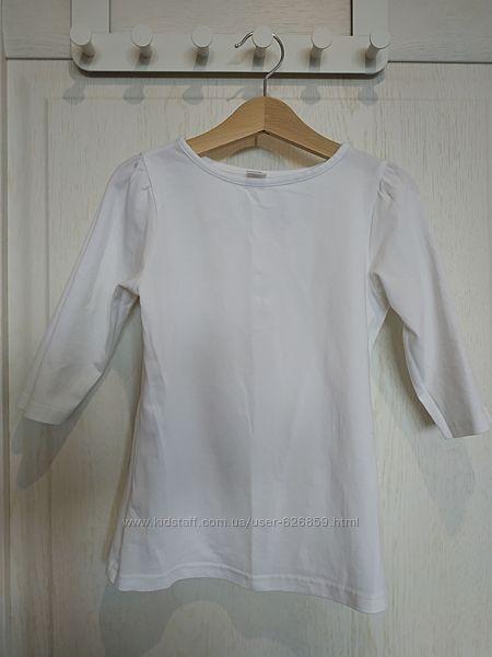 Белая футболка 128-134