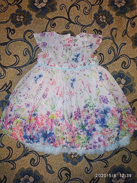 Летнее шикарное платье 6-9мес 68-72см