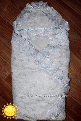 Летний конверт - одеялко для новорожденного