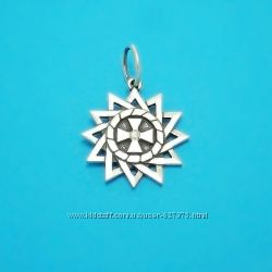 Звезда Эрцгаммы серебряный талисман с камнем