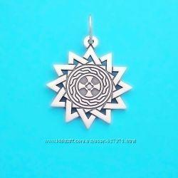 Звезда Эрцгаммы двухсторонний серебряный талисман с камнем
