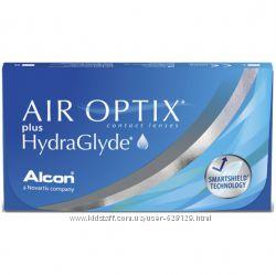Air Optix HydraGlyde, растворы, капли