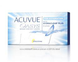 Распродажа Контактные линзы Acuvue Oasys, Air Optix, Biofinity, BioTrue