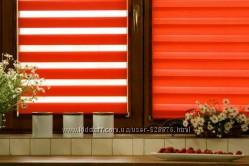 Рулонные шторы тканевые ролеты. Бесплатная доставка День-Ночь жалюзи
