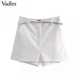 Новые белые летние шорты высокая посадка