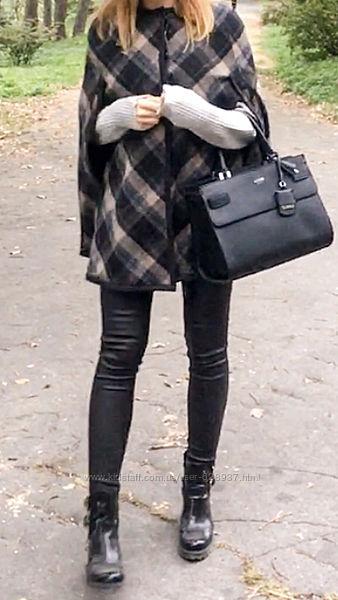Пальто кейп Zara, шерсть в составе
