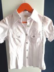 Рубашка школьная белая для девочки