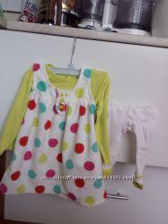 Платье Carters с колготками и кофточкой 6-9 месяцев