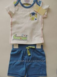 Набір для хлопчика M&S 3-6 міс футболка і шорти.