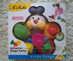 Сортер Гусеница Ks Kids состояние идеальное можно на подарок