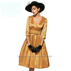 Новое платье золотистого цвета, размер М