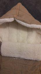 очень теплый конверт на овчине