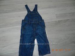 Комбинезон джинсовый  на рост 80-86