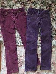 Вельветовые классные штаны 134 рост