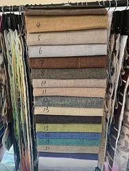 Отрез серой мешковины ткани для штор и декора 2,8м на 5 м