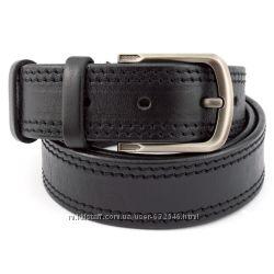 Ремень мужской кожаный kb-40-02 black 4 см