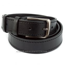 Ремень мужской кожаный KB-35-10 black 3, 5 см
