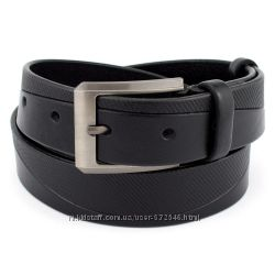 Ремень мужской кожаный kb-35-11 black 3, 5 см