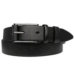 Ремень мужской кожаный jk-3560 black 3, 5 см