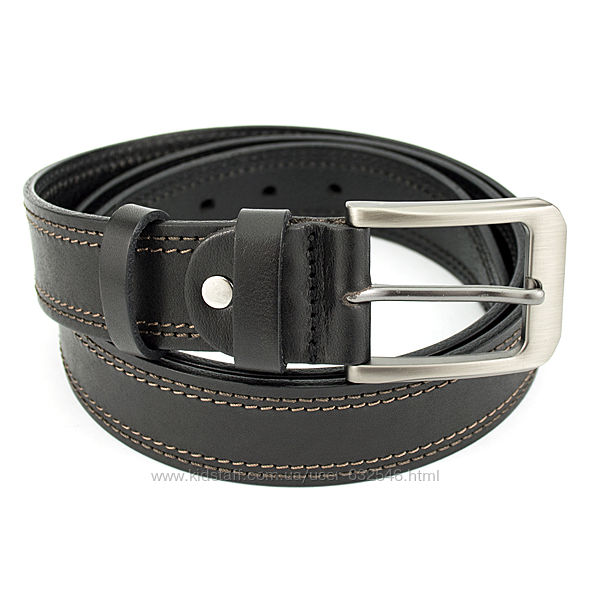 Ремень мужской кожаный SF-352 brown 3, 5 см